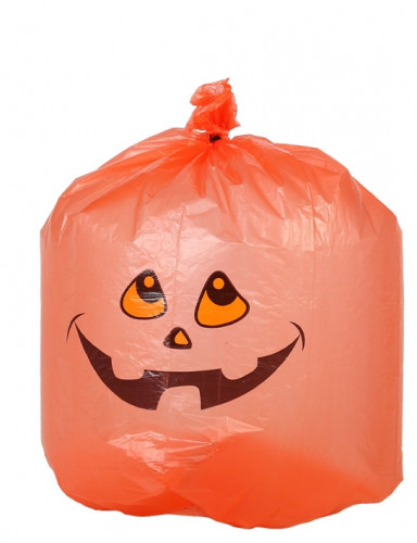 10 sacchi di plastica con zucca di Halloween