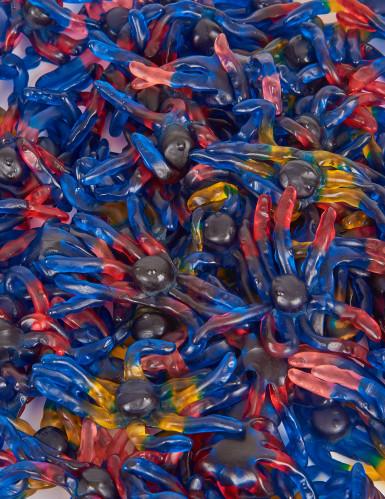 Caramelle a forma di piovra in colori assortiti