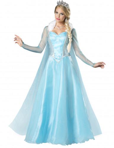 Costume azzurro principessa delle nevi donna