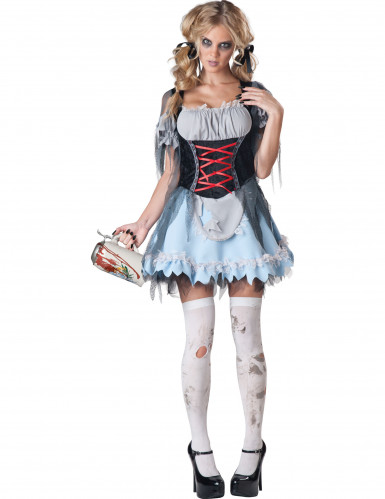 Costume da donna zombie in stile bavarese