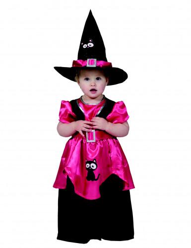 Costume di Halloween per bambina rosa da streghetta