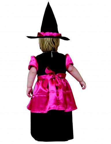 Costume di Halloween per bambina rosa da streghetta-1