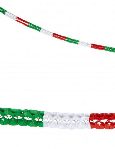 Ghirlanda bandiera italiana di carta