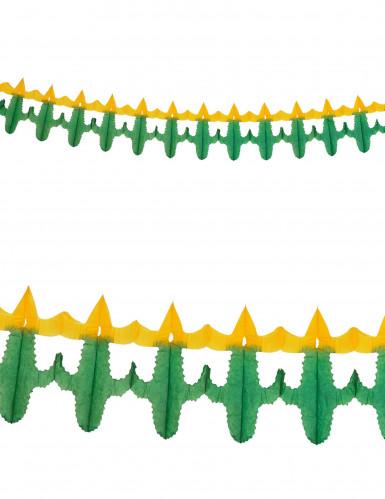 Ghirlanda di carta con piccoli cactus 3 m