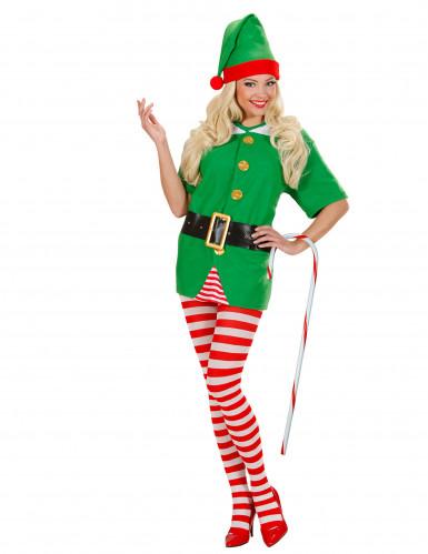 Bastone da elfo di Natale bianco e rosso-1