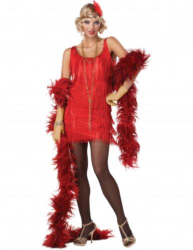 Costume rosso da charleston per donna