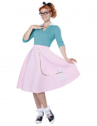 Costume rosa anni '50 donna