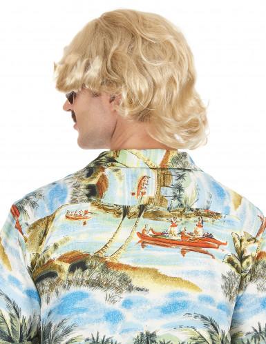 Parrucca bionda anni '70 per uomo-1
