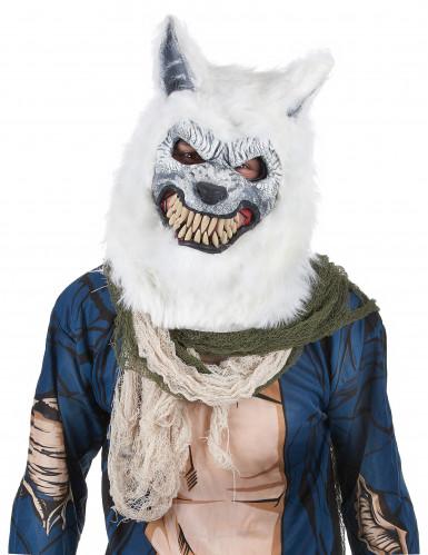 Maschera da lupo bianco