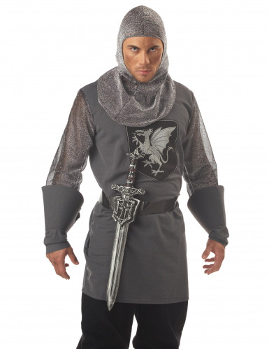 Spada color argento da cavaliere-1