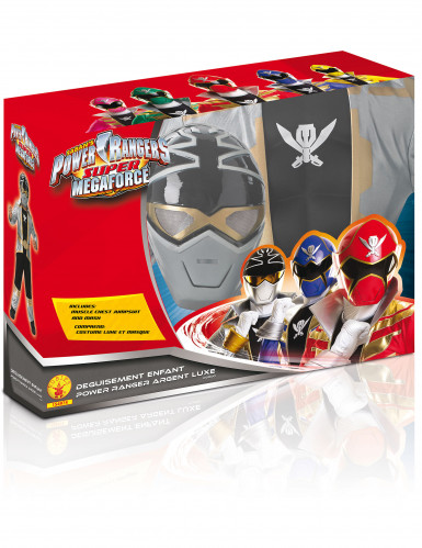 Costume per bambino 3D Power rangers™ Silver Super mega force-1