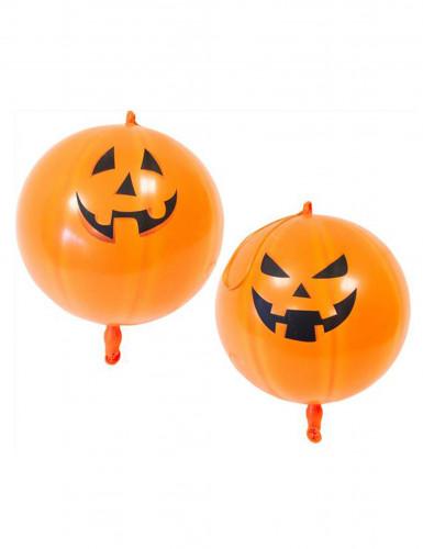2 palloncini giganti di 44 cm con stampa di zucca