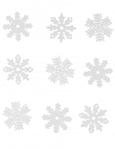 9 fiocchi di neve per Natale da finestra