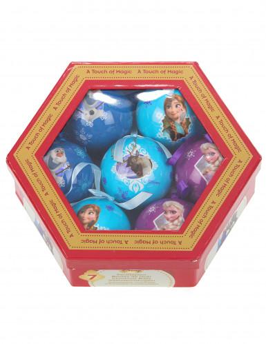 Confezione 7 palle per albero di Natale Frozen <br />- Il Regno di Ghiaccio™-1