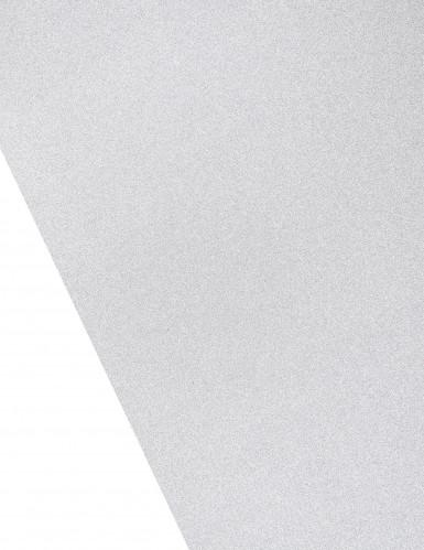 Runner da tavola color argento effetto metallizzato con paillettes-1