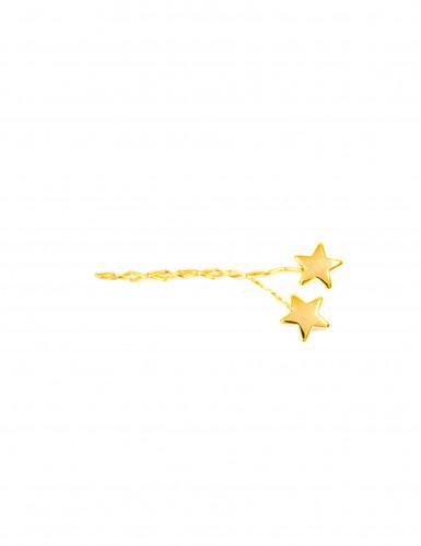 4 decorazioni con stelle dorate per la tavola