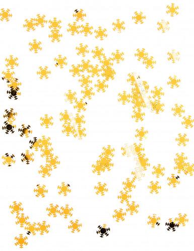 Coriandoli dorati a forma di fiocchi di neve-1