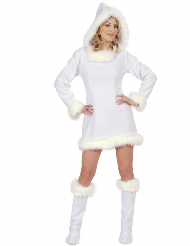 Costume bianco da eschimese per donna