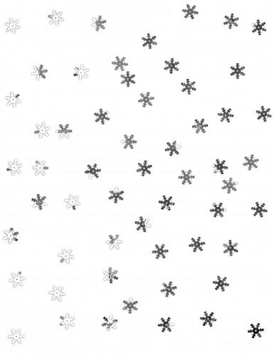 10 grammi di coriandoli da tavola a forma di fiocco di neve color argento-1