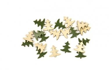 10 gr di coriandoli alberi di Natale da tavolo