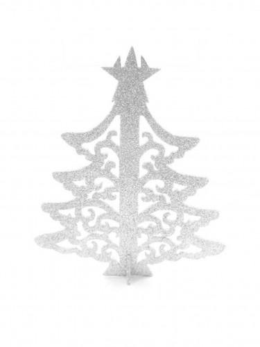 Segnaposto albero di Natale bianco