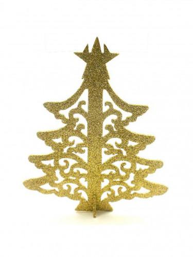 Albero di Natale segnaposto dorato