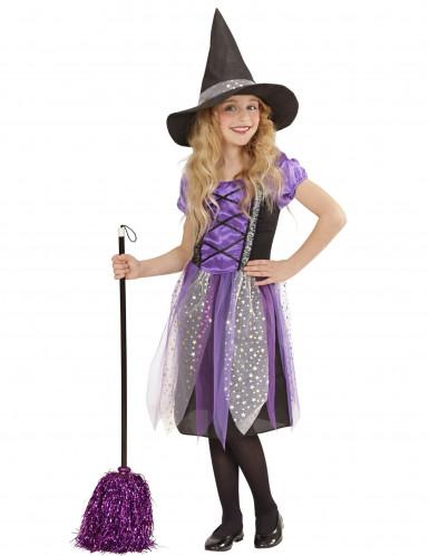 Costume da strega viola bambina Halloween