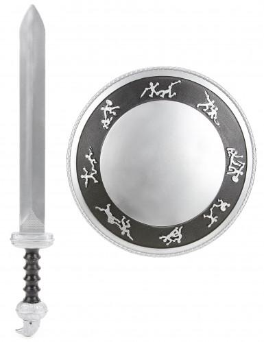 Kit da gladiatore con spada e scudo bambino