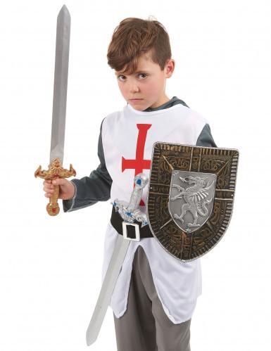 Kit accessori scudo e 2 spade stile gladiatore bambino-1