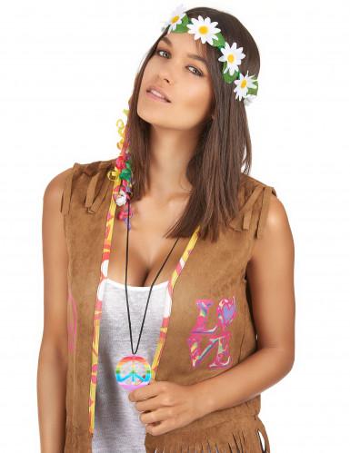 Collana hippie multicolor per adulto-1