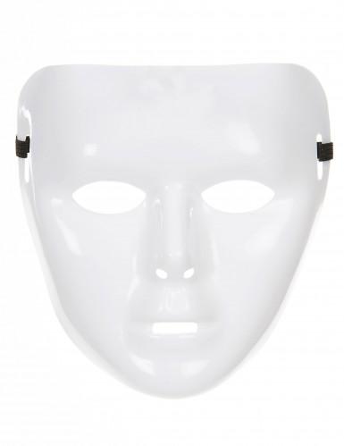 Maschera adulto colore bianco brillante