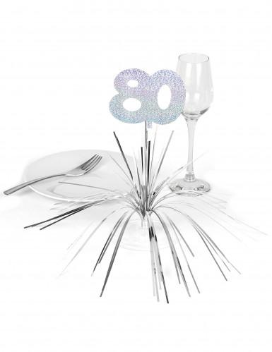 Centro tavola argentato 80 anni-1
