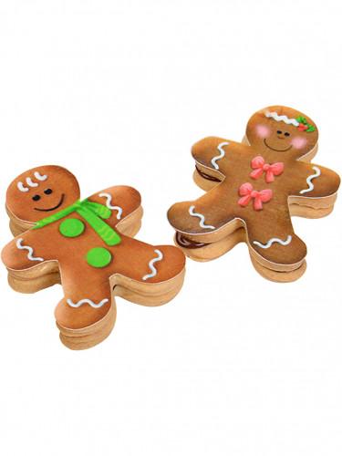 Confezione 9 decorazioni di zucchero Natale