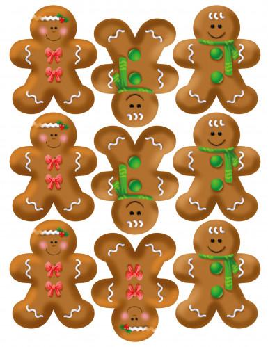 Confezione 9 decorazioni di zucchero Natale-1