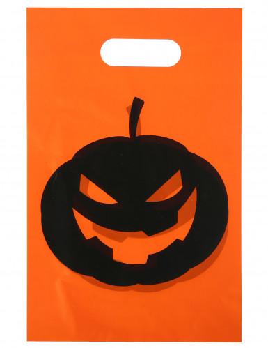 Bustine per caramelle con zucca di Halloween