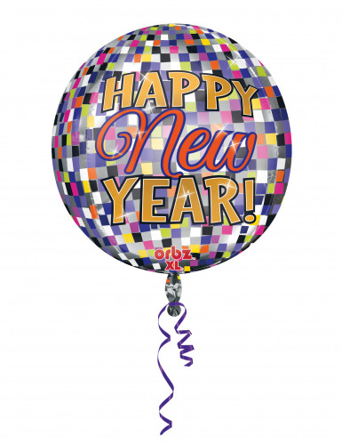 Pallone maxi in alluminio Happy New Year