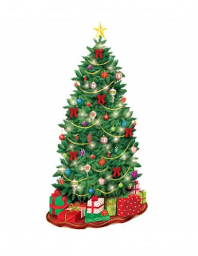 Decorazione murale di cartone a forma di albero di Natale