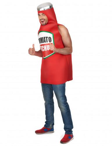 Costume bottiglia di ketchup adulto-1