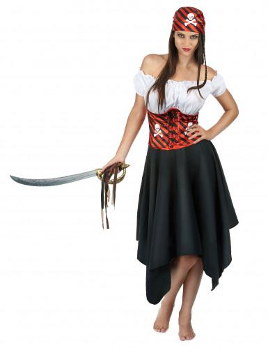 Costume da pirata con bandana per donna