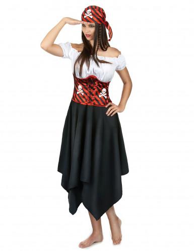 Costume da pirata con bandana per donna-1