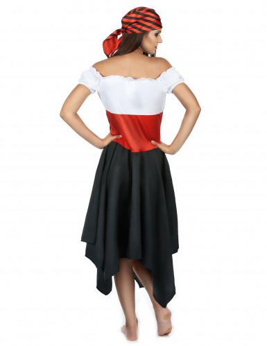 Costume da pirata con bandana per donna-2