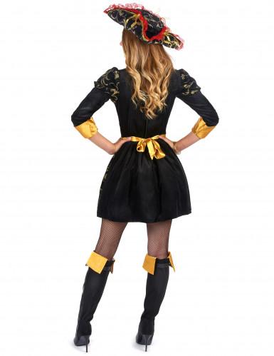 Costume nero e rosso pirata donna-1