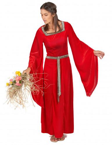 Costume medievale rosso da donna-1