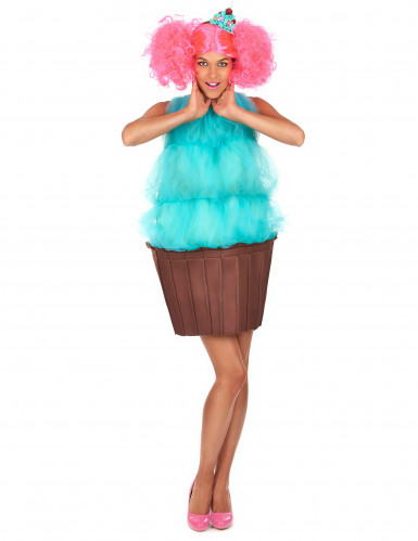 Costume cupcake turchese donna