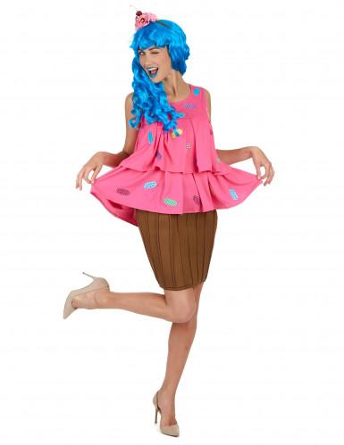 Costume per donna cupcake rosa-1