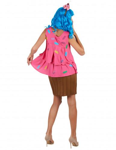 Costume per donna cupcake rosa-2