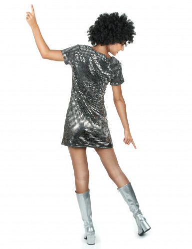 Costume argentato in stile disco anni '70-2