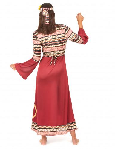 Costume da hippy per donna di colore bordeaux-2