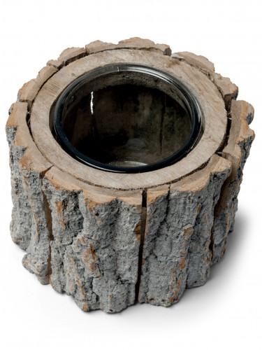 Candeliere a forma di tronco di albero 12 cm x 14 cm