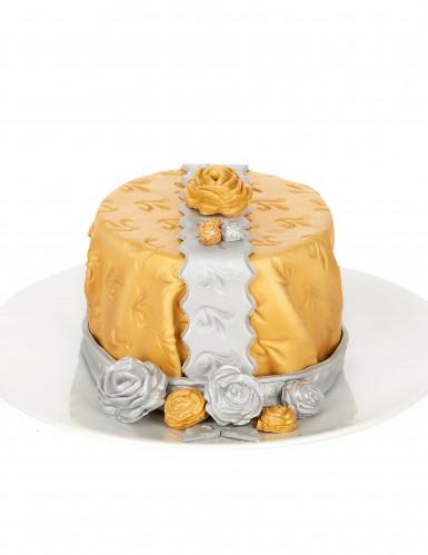 Pasta di zucchero color argento-1